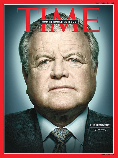 Photo of Ted Kennedy on cover of TIME Magazine. Kennedy passed away this past week.
