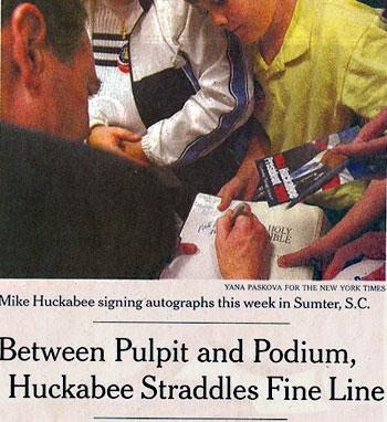 Huckabee-Autograph-Bible
