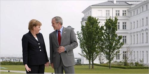 Bush-Merkel-G-8
