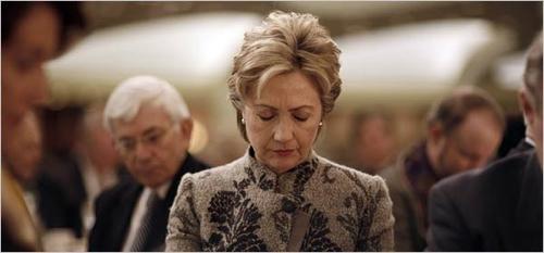 Hillary-Praying
