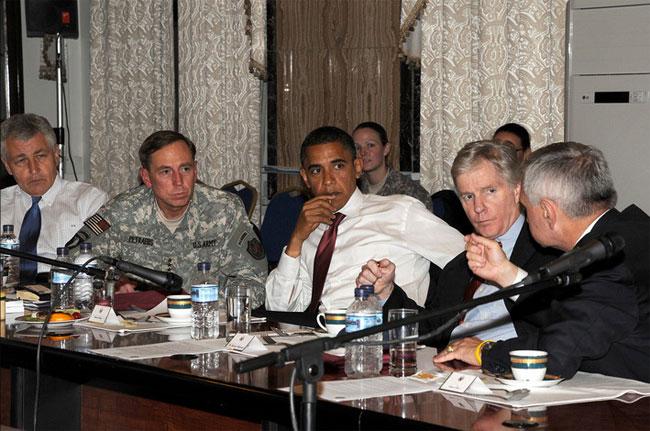 Obama-Crocker-Baghdad